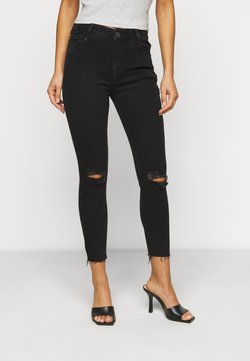 New Look Petite - RIPPED DISCO - Jeans Skinny Fit - black