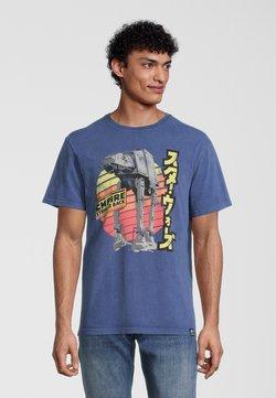 Re:Covered - STAR WARS EMPIRE STRIKES BACK RETRO AT-AT - T-Shirt print - blau