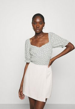 Abercrombie & Fitch - MIMOSA BLOUSE - Bluse - olive