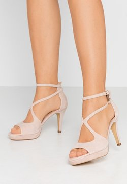 Anna Field - LEATHER HEELED SANDALS - Sandalen met hoge hak - nude