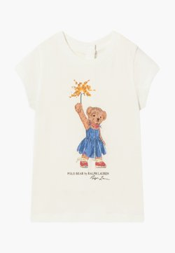 Polo Ralph Lauren - BEAR TEE - Camiseta estampada - deckwash white