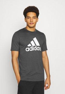 adidas Performance - Camiseta estampada - gresix/white