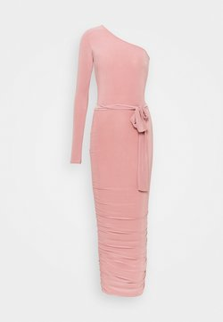 Missguided Tall - ONE SHOULDER SLINKY MIDI DRESS - Cocktailkleid/festliches Kleid - blush