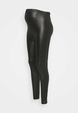 Pieces Maternity - PCMNEW SHINY - Leggings - black