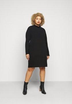 Evans - COWL DRESS - Strickkleid - black