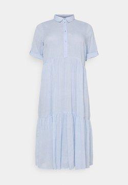 Kaffe Curve - VELLO DRESS - Blusenkleid - chambray blue