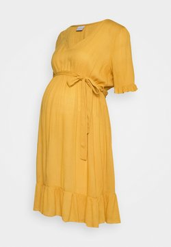 MAMALICIOUS - SHORT DRESS - Kjole - chinese yellow