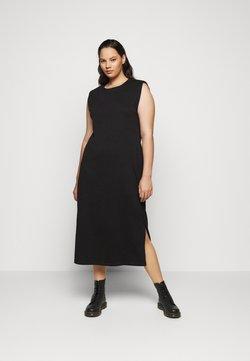 Vero Moda Curve - VMEDEN CALF DRESS CURVE - Jerseykleid - black