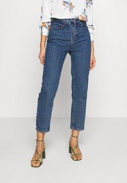 Lost Ink - STRAIGHT CAMOMILLE - Straight leg jeans - dark denim