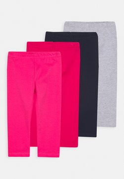Blue Seven - SMALL GIRLS 4PACK - Leggings - pink/grey/navy/red
