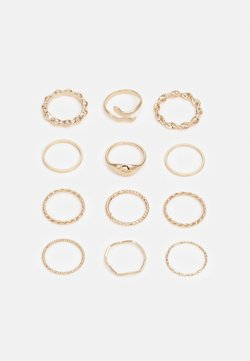 Pieces - PCARIEL 12 PACK  - Ring - gold-coloured