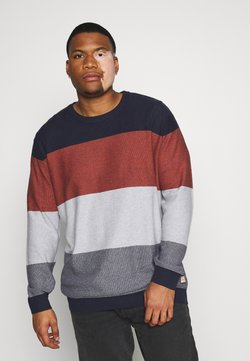 Jack & Jones - JORFLAME KNIT CREW NECK  - Strickpullover - navy blazer