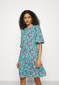 Closet - GATHERED TIERED DRESS - Freizeitkleid - turquoise