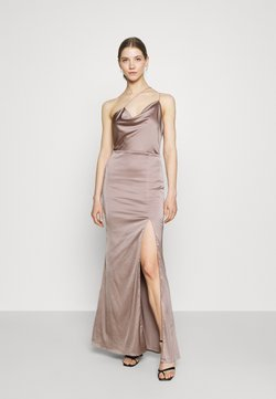 Nly by Nelly - PUT ON A SHOW STRAP GOWN - Festklänning - nougat