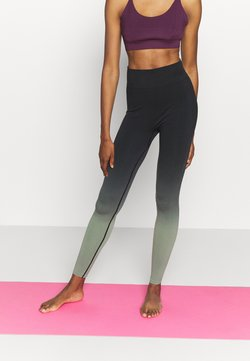 South Beach - GRADIENT HIGH WAIST - Tights - black