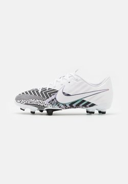 Nike Performance - MERCURIAL JR VAPOR 13 ACADEMY FG/MG UNISEX - Chaussures de foot à crampons - white/black