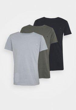Replay - CREW TEE 3 PACK - Basic T-shirt - dark blue/periwinkle/ash grey