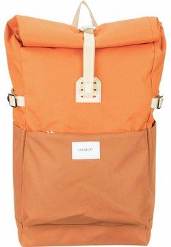 Sandqvist - ILON - Tagesrucksack - multi burnt orange/natural leather