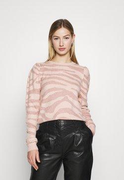 ONLY - ONLCERIE - Strickpullover - seashell pink/gilded beige glitter