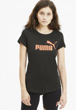 Puma - ESSENTIALS - Printtipaita - puma black-nrgy peach