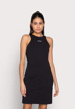 Calvin Klein Jeans - MICRO BRANDIN RACER BACK DRESS - Vestido ligero - black
