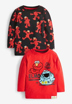 Next - COOKIE MONSTER AND ELMO 2 PACK LONG SLEEVE T-SHIRTS - Longsleeve - red