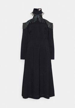 Christopher Kane - CUPCHAIN CUT OUT SHOULDER DRESS - Juhlamekko - dark navy