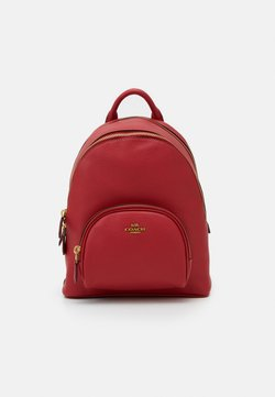 Coach - POLISHED PEBBLE CARRIE BACKPACK - Plecak - red apple