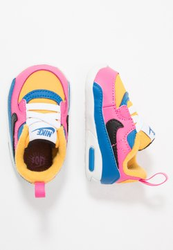 Nike Sportswear - MAX 90 CRIB - Obuwie do raczkowania  - speed yellow/black/battle blue/pinksicle