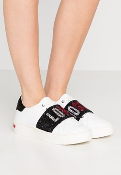 Love Moschino - STRASS BAND - Sneakers laag - white