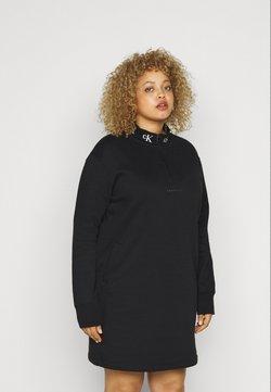 Calvin Klein Jeans Plus - LOGO TRIM - Freizeitkleid - black