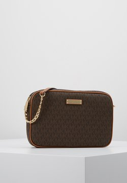 MICHAEL Michael Kors - JET SET CROSSBODY - Across body bag - brown