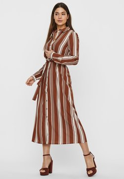Vero Moda - VMATHENS - Vestido camisero - tobacco brown