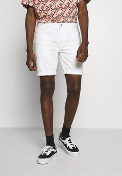 Topman - SKINNY - Jeansshort - white