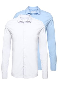 Pier One - 2 PACK - Camicia elegante - white/light blue
