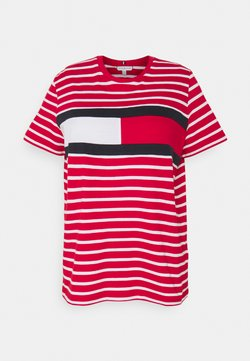Tommy Hilfiger Curve - TEE REGULAR FIT FLAG - T-Shirt print - classic brenton / primary red