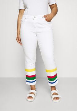 Lauren Ralph Lauren Woman - MIDRS 5 POCKET - Jeans Slim Fit - white