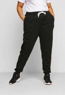 Even&Odd Curvy - JOGGERS REGULAR FIT - Pantalon de survêtement - black