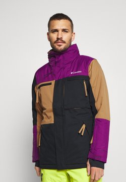 Columbia - PARK RUN JACKET - Veste de ski - black/delta/plum