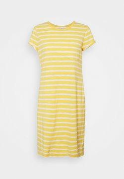 GAP - TEE DRESS - Jerseykleid - yellow/white