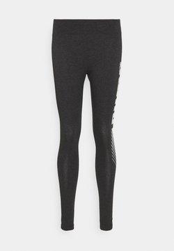 Puma - GRAPHIC LEGGINGS - Tights - dark gray heather