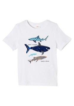 s.Oliver - MIT WENDEPAILLETTEN - T-Shirt print - white