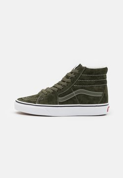 Vans - SK8 UNISEX - Korkeavartiset tennarit - olive/true white
