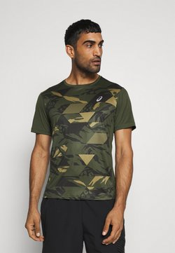 ASICS - FUTURE CAMO - Camiseta estampada - smog green
