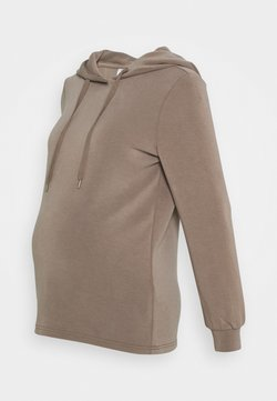 Pieces Maternity - PCMRISE HOODIE LOUNGE - Jersey con capucha - taupe