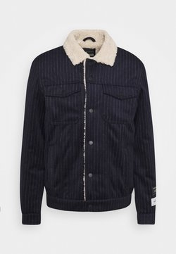 Scotch & Soda - TRUCKER JACKET - Winterjacke - dark blue/off-white