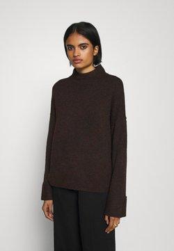 Vero Moda - Sweter - chocolate plum/melange