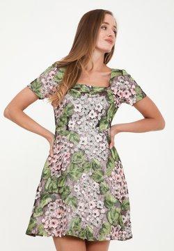 Madam-T - AGAVA - Cocktailkleid/festliches Kleid - rosa, grün