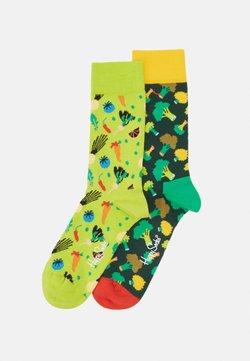 Happy Socks - VEGGIE BROCCOLI 2 PACK - Chaussettes - medium green