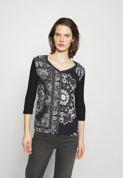 Desigual - VARSOVIA - Maglietta a manica lunga - black